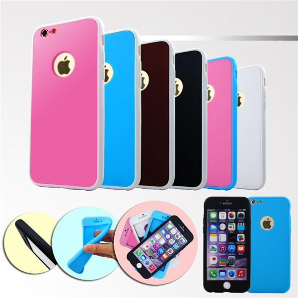 360 Degree All-inclusive TPU Drop-proof Cheap Phone Case Two-color Matte Cell Phone Case For Iphone 6 6s 7 8 Plus DHL Free