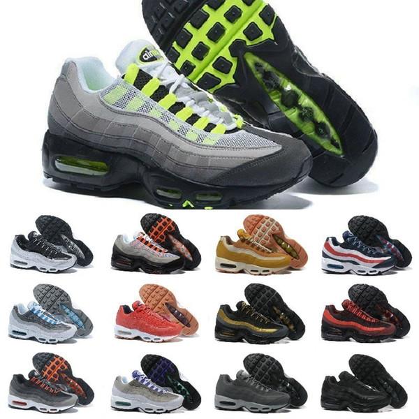 Großhandel 2019 Nike Air Max 95 Shoes New Airmax 95 Ultra OG X 20 Jähriges Jubiläum Männer Sportschuhe Billig Schwarz Weiß Rot Blau Luftpolster Sohle