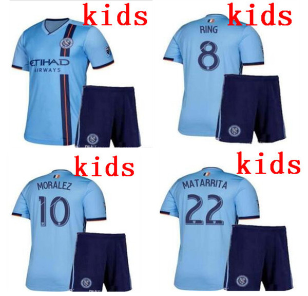 19/20 NYCFC New York City Fußballtrikots PIRLO MIX DAVID VILLA LAMPARD entfernt Blue Maillot De Foot 2019 2020 Kinderfußballausrüstung