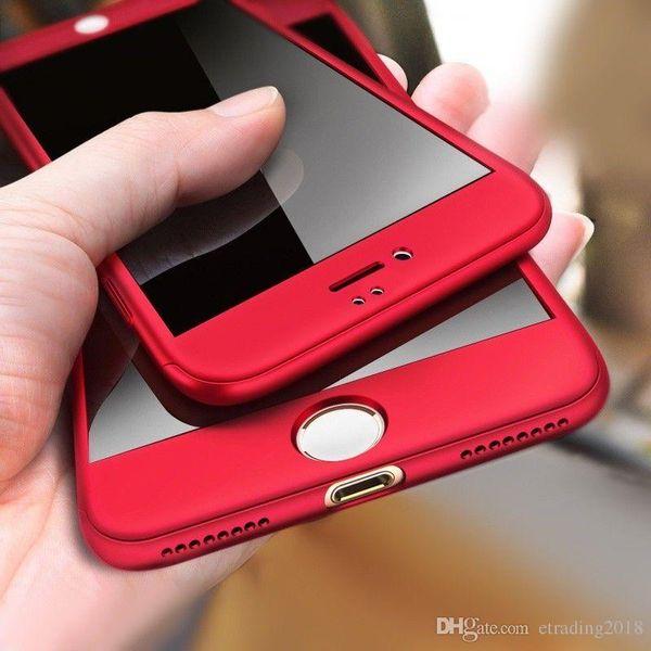Casos a prueba de choques del teléfono de la protección de 360 grados del lujo para Iphone8 8plus 7 7plus 6