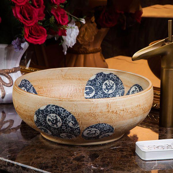 chinois Jingdezhen Art de comptoirs bols en céramique bassin traditionnel