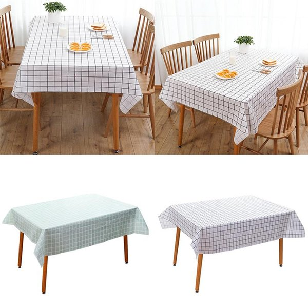 Creative Simple Nordic Style Grid Pattern Table Cloth Rectangular Waterproof Oil-Proof Checkered Tablecloth Table Cover