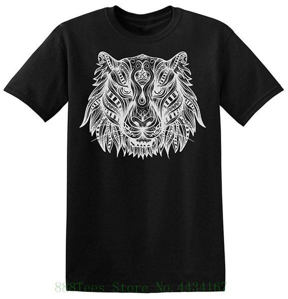 Amazing Portrait Of Tiger Men's T shirt Printed T shirt Men's Short Sleeve O neck T shirts Summer Stree Twear