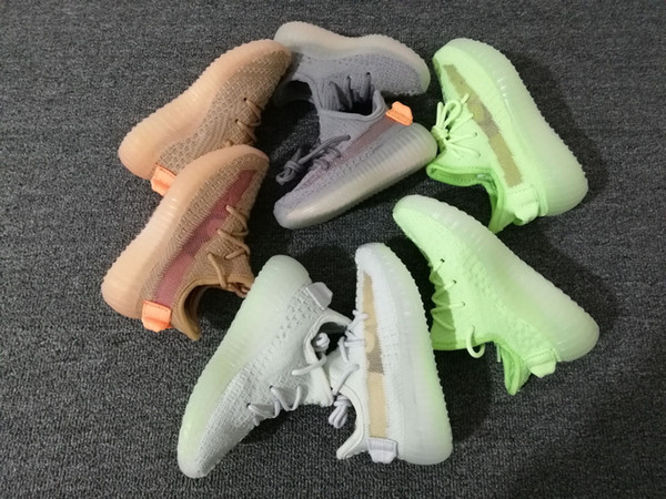 Kanye West GID Kids running shoes Infant Clay TrueForm Hyperspace Children Sports shoes toddler trainers boy & girl sneakers