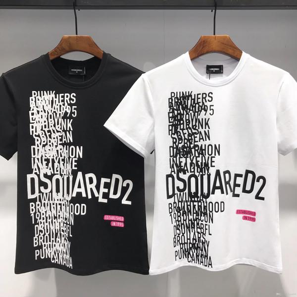 2019 neue beiläufige männer t-shirts hip hop baumwollmischung mens clothing runder kragen brief muster t-shirts tops sommer männer kurzarm t-shirt