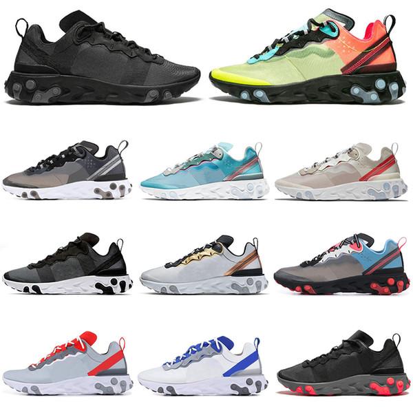 Nike React Element 55 87 scarpe da corsa da donna da uomo triple nero rosso Royal Tint Sail designer da uomo scarpe da ginnastica sportive scarpe da ginnastica