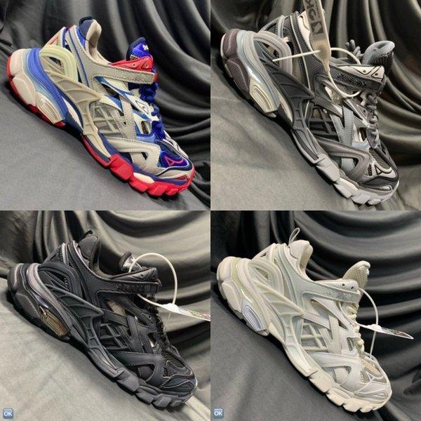 2019 Livraison gratuite 2019 New Color Track 2 Chaussures unisexe confortable Designer Shoes Mesh respirant et nylon Taille 36-45