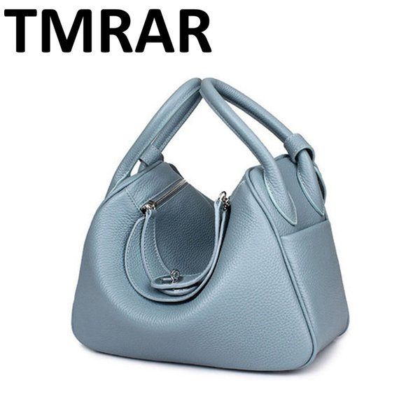 2019 New Candy Genuine Leather Women Handbags Chic Lady Main New Modern Brand Design Shoulder Bags Hot Selling M1998 J190712