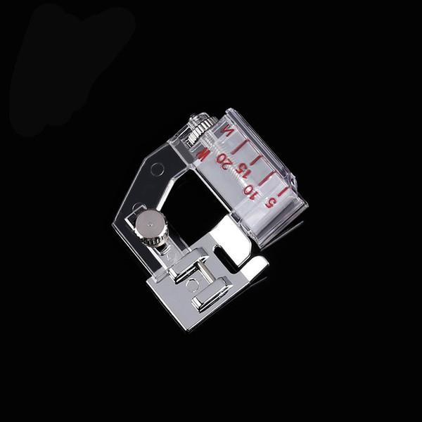 Главная Snap On Регулируемое Transparent Ноги подгиба прижимной лапки для швейных машин Новых текстильных инструментов 2 5NP UU