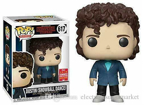 Fortunato Funko Pop TV Stranger Things Dustin Snowball Dance # 617 2018 Limited Edition Nuovo