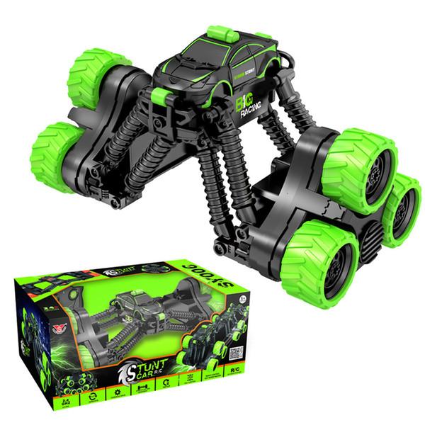 Stunt vuelco Volquete coche de control remoto a través del país control remoto muchacho coche de juguete los niños de carreras de coches deformación telescópica