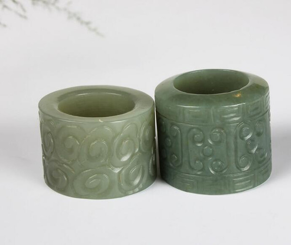 Xinjiang Hetian Yuye City and the end material Men's jade jade wenwan ring atmosphere and Tianyu ring finger