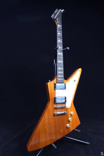 Top Quality Hot sale Melhor Preço Único Personalizado Natural Woodcolor Guitarra Elétrica em estoque sons agradáveis
