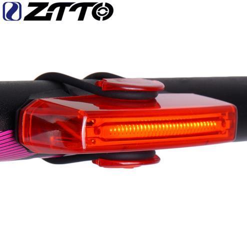 ZTTO Ciclismo de Carretera Bicicleta de Montaña Accesorios de MTB Impermeable 30 LED Ultra Brillante Rojo USB Recargable Luz Trasera WR02