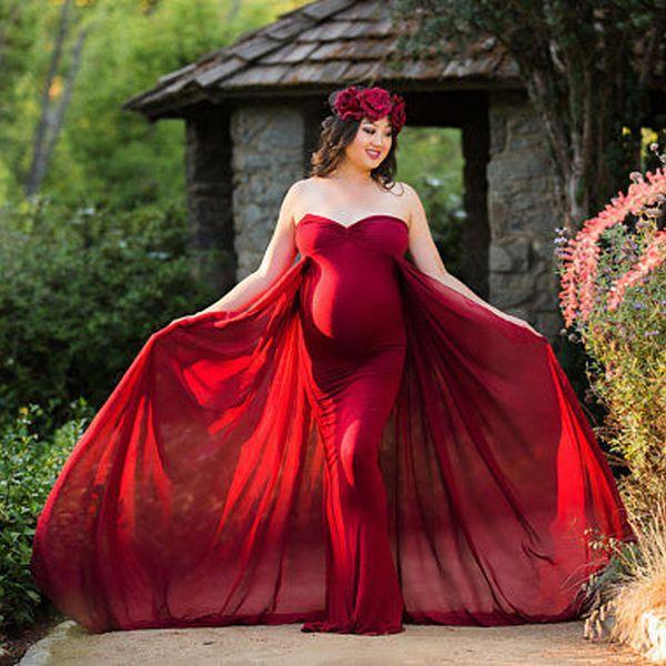 Compre Vestidos De Maternidad Sin Hombros Para Sesión De Fotos Accesorios De Fotografía De Maternidad Vestidos De Embarazo Para Mujeres Embarazadas
