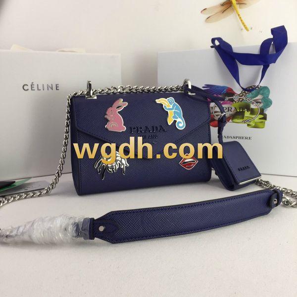 Women's handbags 2019 brand in Europe and Messenger bags popular women's S shoulder-shouldered shoulder bag sales 1BD12771