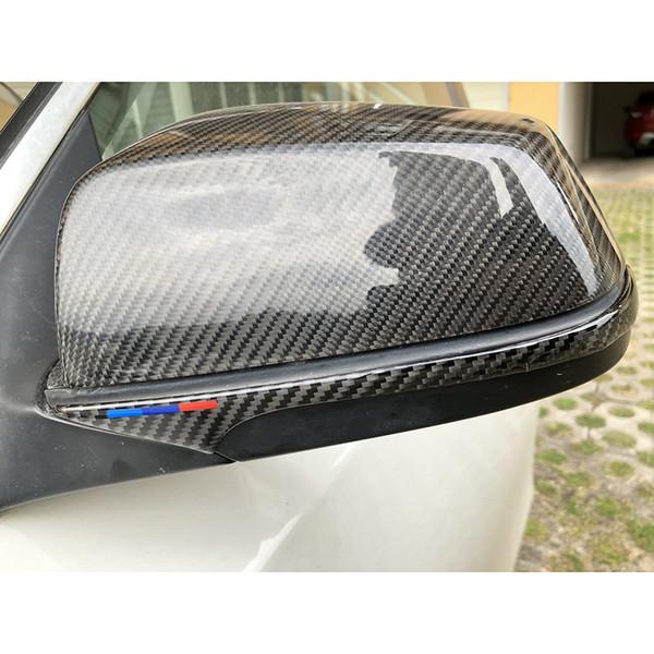 Carbon Fiber Rear Mirror Cover Trim Stickers Crash Strip Car Protection Suitable for BMW E60 F10 F07 F01 5 Series GT