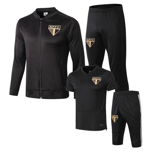 18 19 TOP Sao Paulo jacket veste full zipper Sao Paulo tracksuit Survetements DIEGO SOUZA NENE Short sleeve Maillot de foot training jacket
