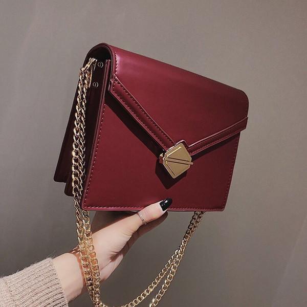 Designer Shoulder Crossbody Bag Chain Fashion Pattern Flap Pu Leather Women Handbag Female Brand Lady Small Messenger Bag