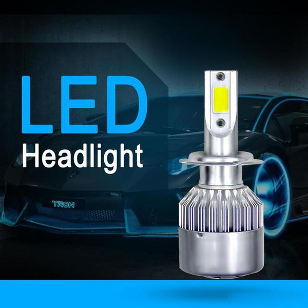 Pair 80W 8000LM H13 9008 Kit de conversion de phares à LED à ampoules à double faisceau Blanc COB 6000K