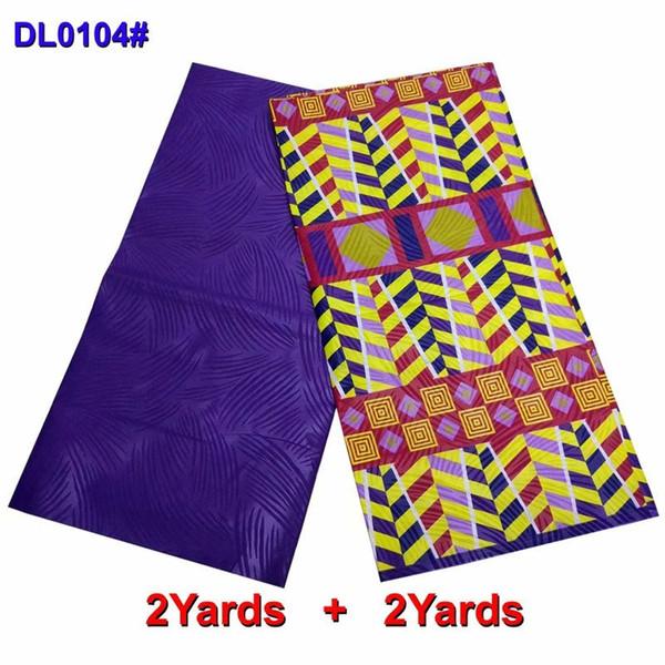 2 + 2 Yards afrikanischen Bazin Riche Getzner Stoff handgemachte Ankara afrikanischen Wachsdruck mit einfachen blauen Spitzenstoffe für Männer Tuch GD04