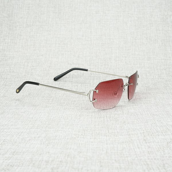 silver frame red