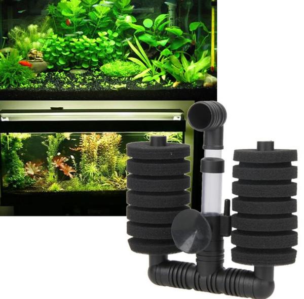 top popular Hot !!!High Quality New Practical Fish Tank Filter Aquarium Biochemical Sponge Filter Fish Tank Air Pump PTSP 2021