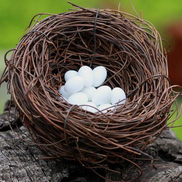 Искусственные гнезда и яйцо фея сад миниатюра гномы террариумов смола ремесла фигурки для украшения дома кукольного дома