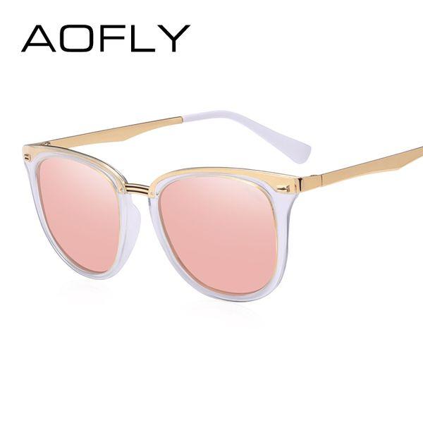 38a5ca50290fc AOFLY Moda mujer gafas de sol polarizadas Vintage mujer diseñador de la  marca Shades gafas accesorios gafas de sol de conducción AF7968   16383