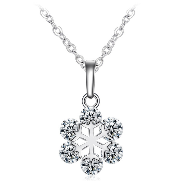 Fashion Collar Choker Snowflake Pendants & Necklace Crystal Rhinestone Cubic Zirconia Necklaces for Women Jewelry GiftHot Sale
