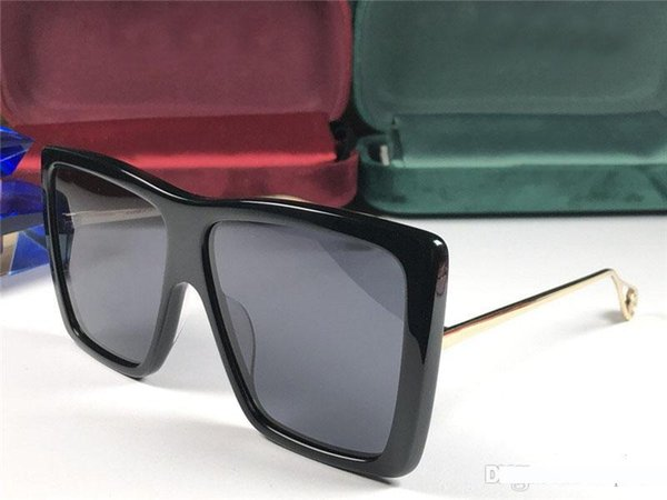 Atacado novo designer de moda óculos de sol 0434 moldura quadrada populares avant-garde estilo verão óculos de proteção de qualidade superior uv400