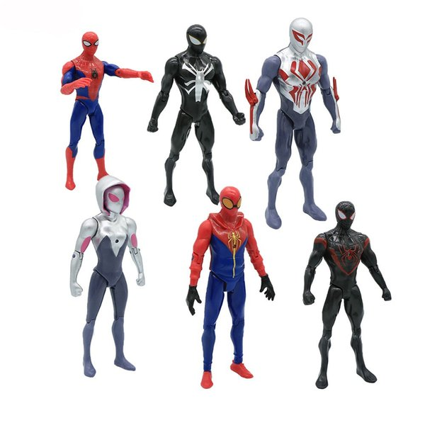 18 CM Movie SpiderMan Homecoming Gwen Stacy Spider Donna Spider Man con la luce del giocattolo del fumetto Toy Action Figure Model Doll Gift