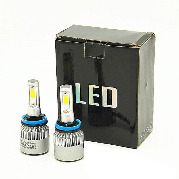 Dhl versand h4 led h7 h11 h8 9005 9006 hb4 h1 h3 hb3 auto auto scheinwerferlampen 72 watt 8000lm auto styling 6500 karat led