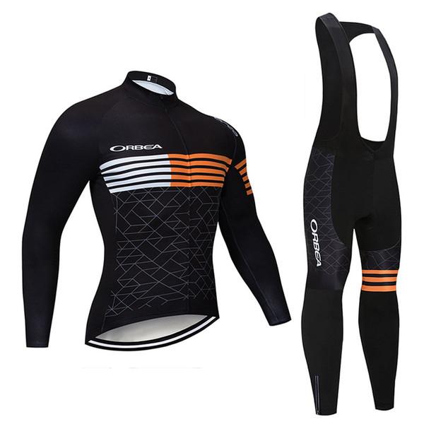 ORBEA Team cycling clothing Men long sleeve bike jersey bib/ pants suit spring autumn quick dry mountain bike wear Bicycle uniform Y081505