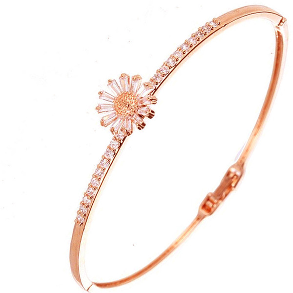 Vendredi noir Thanksgiving Bracelet en forme de fleur avec bracelet incrusté de bijoux de mode pour femmes comme cadeau