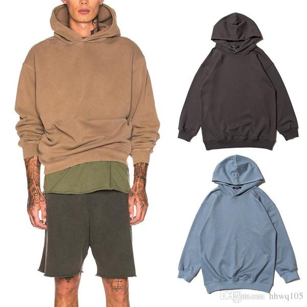 Kanye West Saison 6 Sweat à capuche Homme surdimensionné solide unisexe de jogging Sweat à capuche Hip Hop Streetwear Calabasas Pull CPI0320