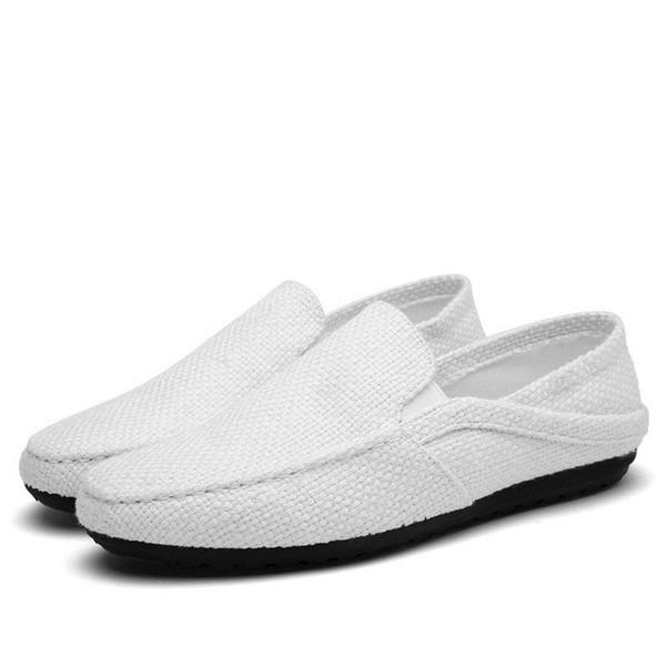 Summer Male Doug Shoe Tendance Basse Aide Flax Dawdler Male Shoe Shoe coréen Ventilation Loisirs Temps Drive # 254097