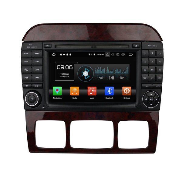 "Octa Core 2 din 7"" Android 8.0 Car DVD Audio Radio GPS for Mercedes Benz S Class W220 S280 S320 S350 S400 S430 S500 4GB RAM 32GB ROM"