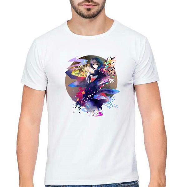 Místico t camisa Hunter X tops de manga curta Última missão dos desenhos animados fadeless tees Unisex branco colorfast clothing Pure color camiseta modal