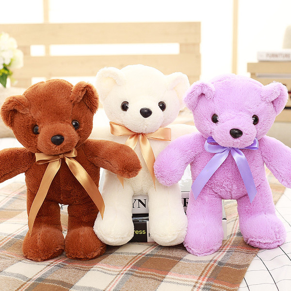 Teddy Bear Doll Juguetes de peluche para niños Empresa Actividades promocionales Máquina de bodas Doll Custom Puede agregar logotipo