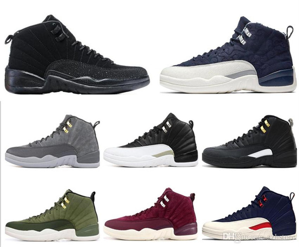 12 12s basketball shoes XII Men Winterized Gym red CNY flu game GAMMA BLUE Dark grey the master taxi sports sneakers zfmall