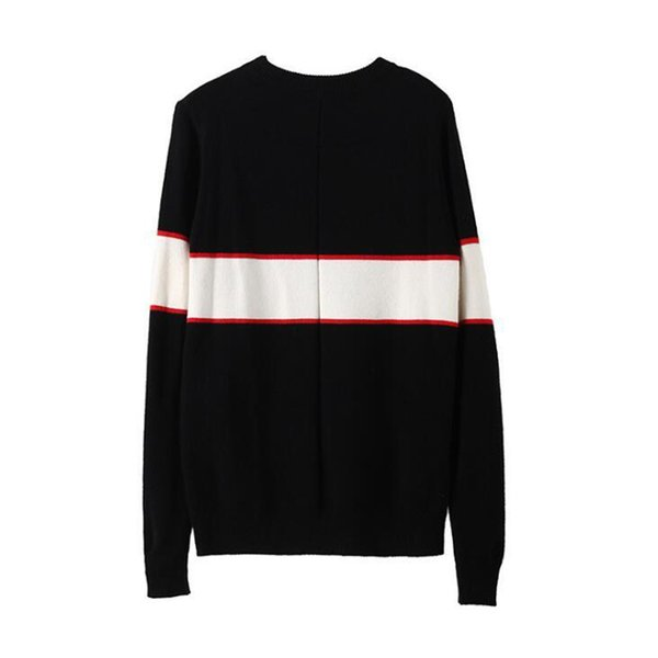 Black designer sweaters for men fashion long sleeve letter print couple sweaters autumn loose pullover sweaters for women free shipping