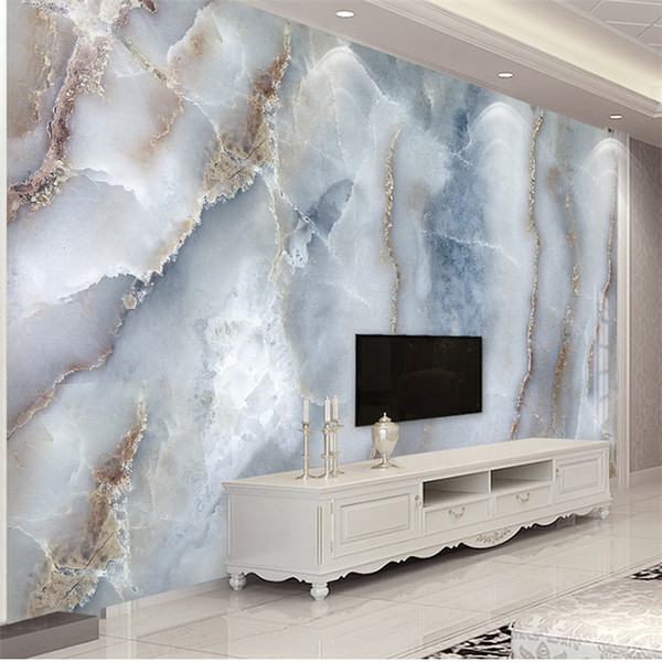 top popular Custom Any Size Abstract Marble Stone Wall Cloth Living Room Sofa TV Background Wall Decorative Waterproof Wall Mural 2021