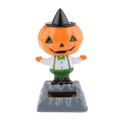 Автомобильные украшения покачал головой кукла Хэллоуин солнечной энергии танцор автомобилей аксессуары для интерьера приборной панели автомобиля декор игрушки TTA74