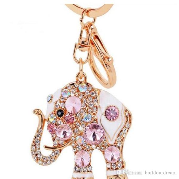 Colorido elefante lindo de lujo llavero llavero llavero llavero Porte clef regalo hombres mujeres souvenirs bolsa colgante coche 2019032511