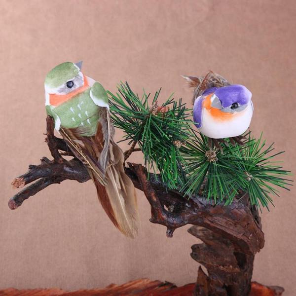 igurines miniaturen 12 teile / satz künstliche schaumfeder simulation vogel modelle diy party handwerk ornament requisiten hausgarten hochzeit ...