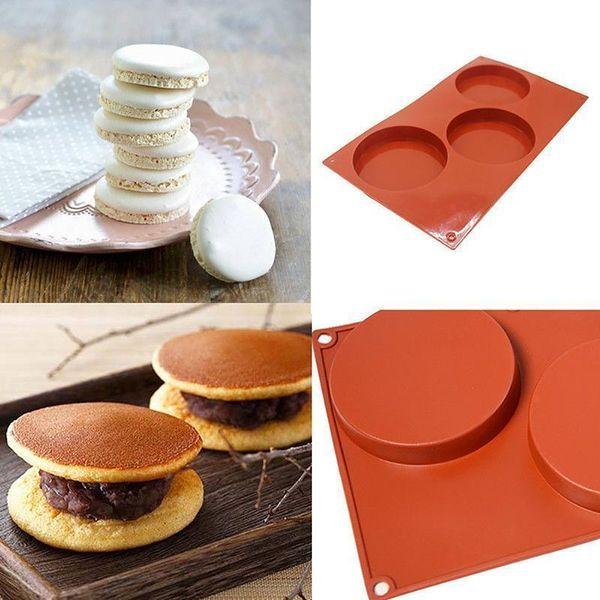 Muffin al cioccolato del biscotto della torta di formaggio della cottura del silicone della muffa della muffa Pan