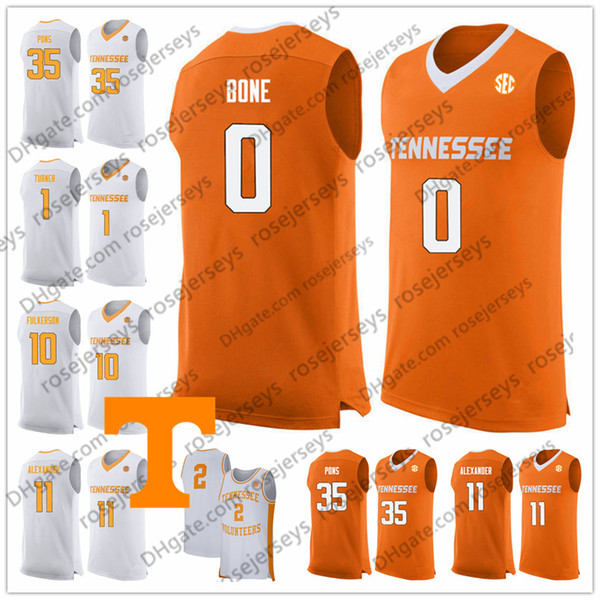 Brad Woodson Tennessee Volunteers Basketball Jersey - White