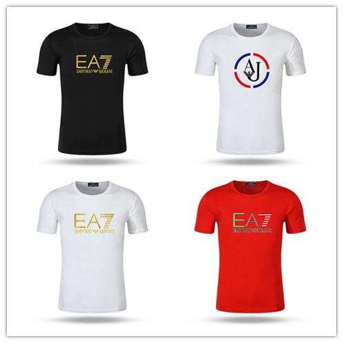Venta al por mayor más tamaño Nueva marca cuello redondo camiseta Street Luxury manga corta poloshirt Camisa arco iris hombres Diseñador para hombre camisetas cp empresa