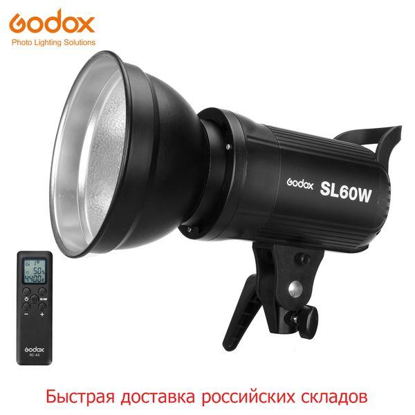 Sanayi ing Ücretsiz DHL Godox LED SL-60W 5600 K Beyaz Sürüm Video Sürekli Işık Stüdyo Video Kayıt için Bowens Dağı